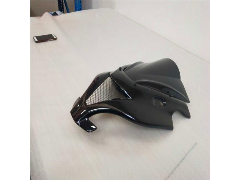 Black carbon fiber for Kawasaki 250CC front body tailored