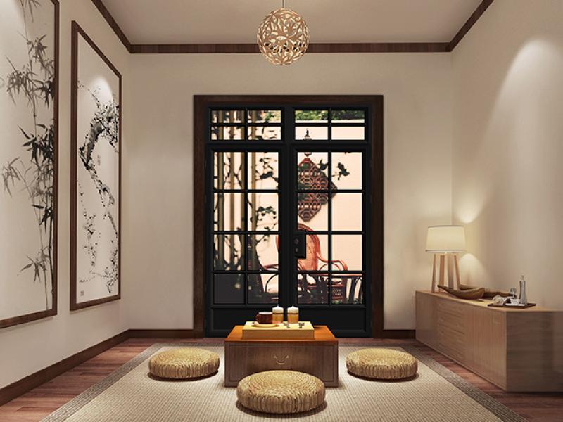 Soundproof sliding door system doors tempered glass broken bridge doors and windows aluminum alloy d