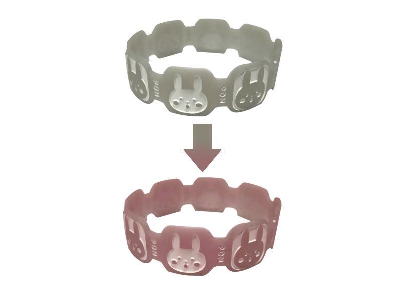Temperature sensitive strong luminous silicone bracelet silicone bracelet