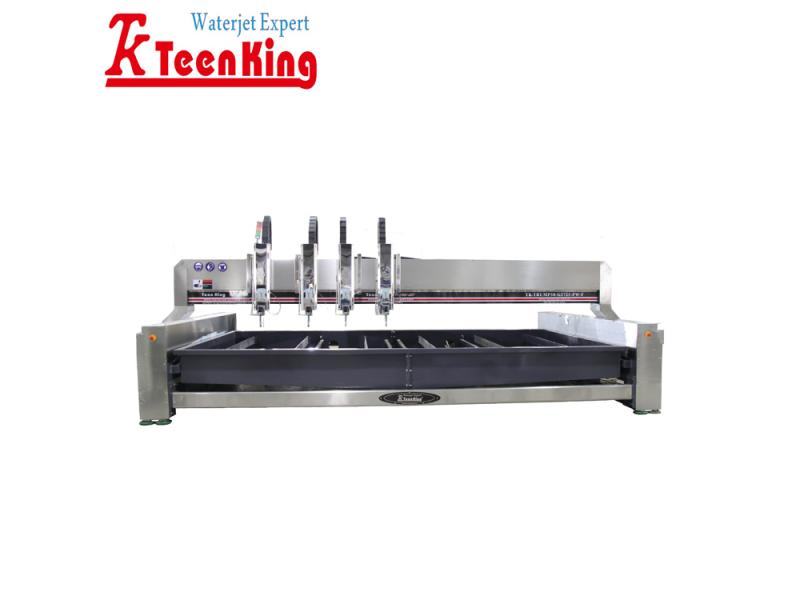 High productive four heads pure waterjet cutting machine for soft materials