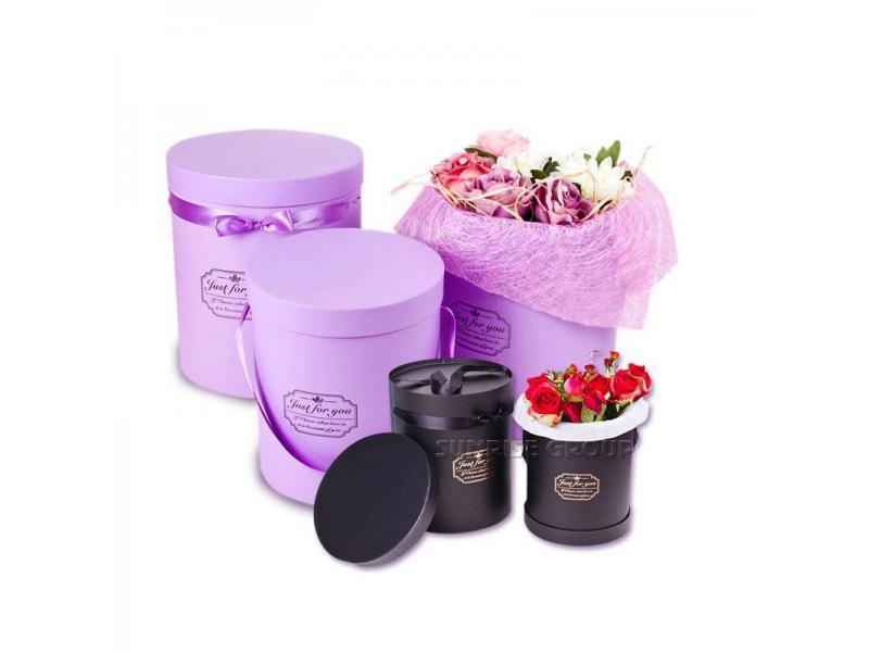 Custom Logo Printing Pure Color Flower Box