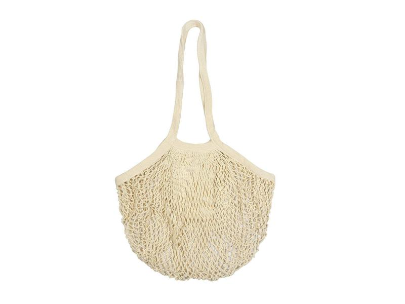 Organic Cotton Mesh Tote Bags Reusable String Bags for Grocery - Net Bag with Handles for Farmers Ma
