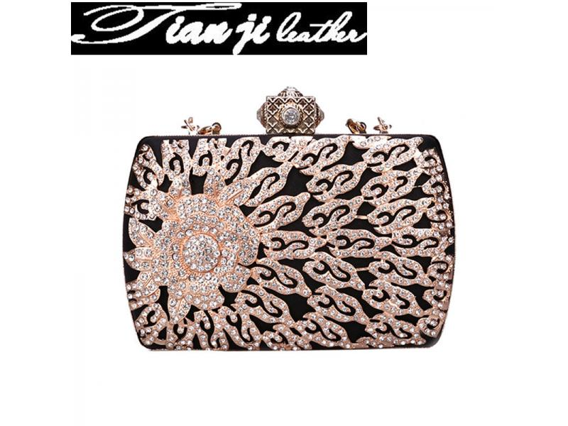 Factory Wholesale New Design Fashion Beaded Evening Bag Lady Handbag