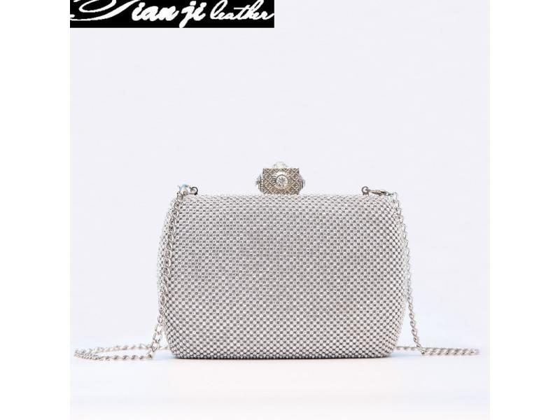 Hot New Designer Silver Gold Fashion Evening Bag Lady Handbag