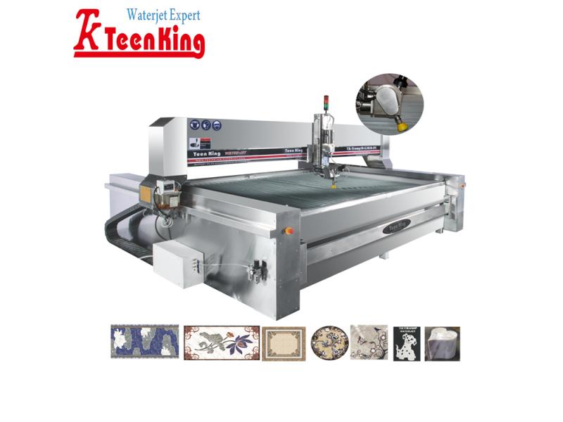 5 axis dynamic tilting waterjet cutting machine for stone,marble,granite etc,.