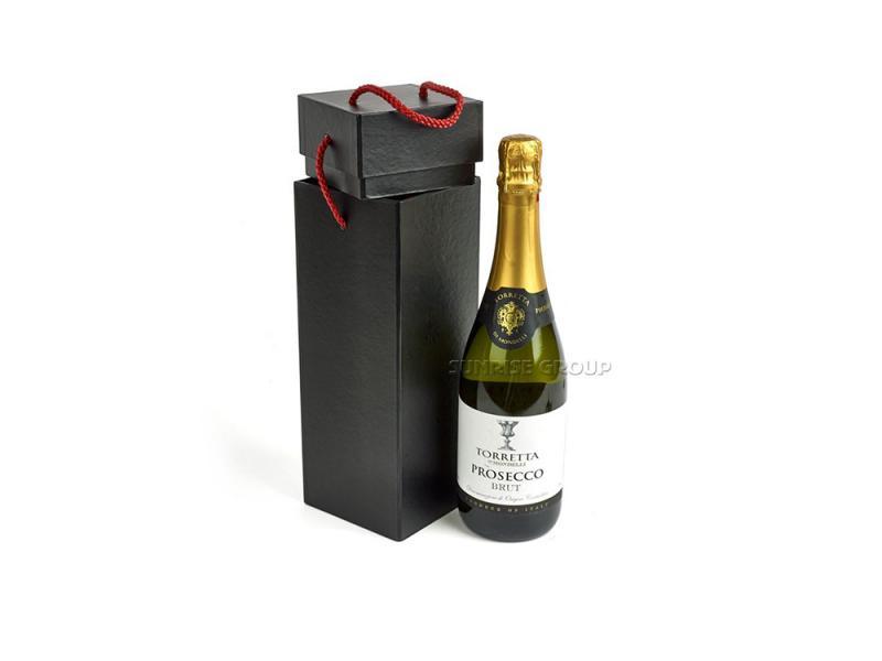Wine Glass Wine Bottle Gift Packaging Custom Foil Box
