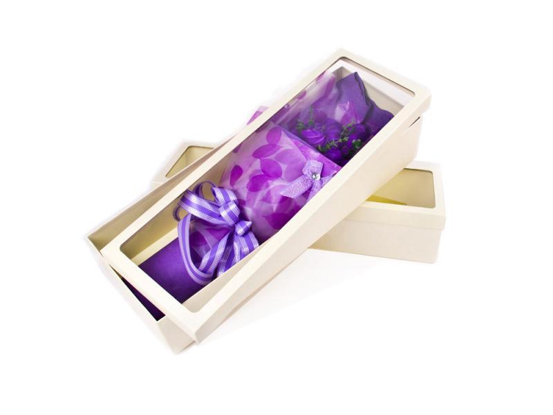 Custom Paper Cardboard Flower Hot Sell Packaging Box with plastic window