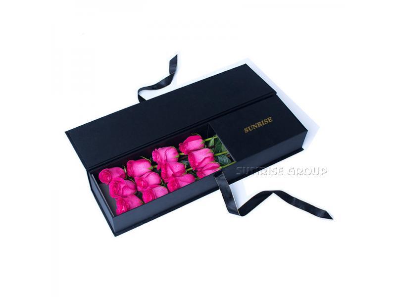 Custom Printed Rectangle Paper Florist Flower Selling Packaging Box