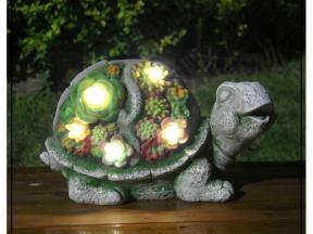 garden solar powered light animal satues