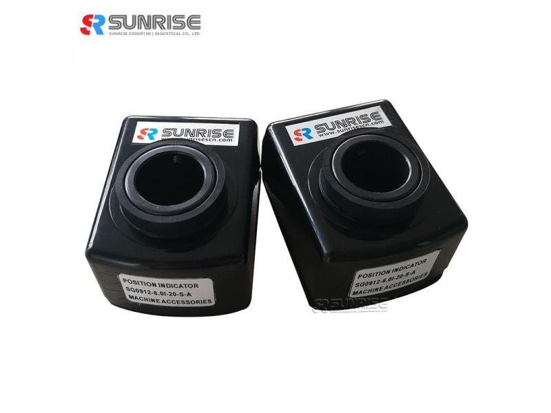 SUNRISE Clockwise Increasing SG09 Orange Mechanical Position Indicator