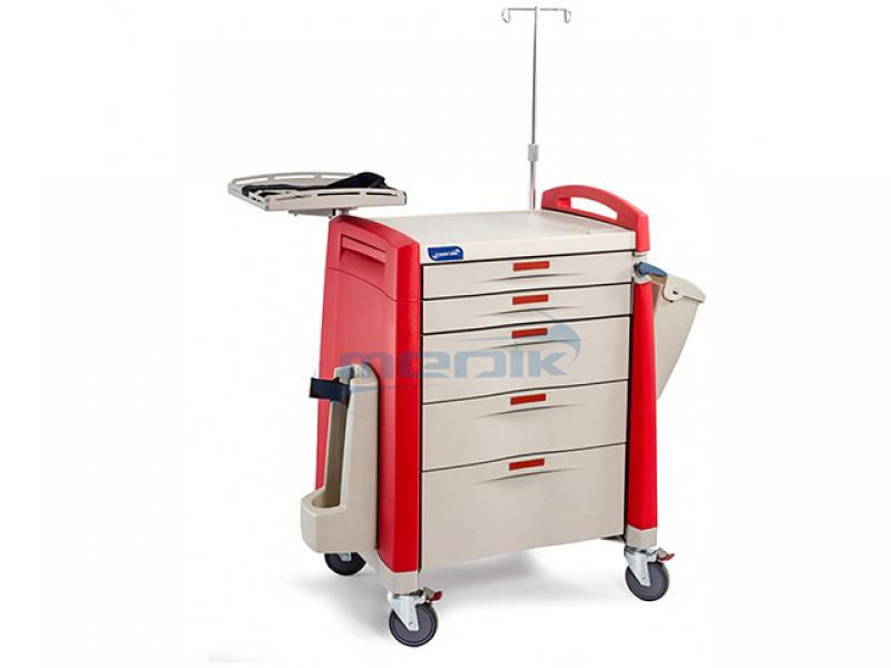 Hospital Equipment Abs Plastic Trolley Manufacturer Medical Cart With Drawers