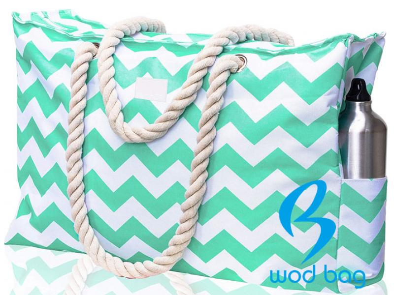 Rope Handle Canvas Beach Bags