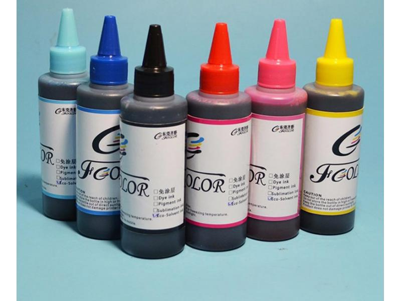New Premium Coating Free Eco Solvent Printing Ink for Pen PVC Phone Case Film Printing