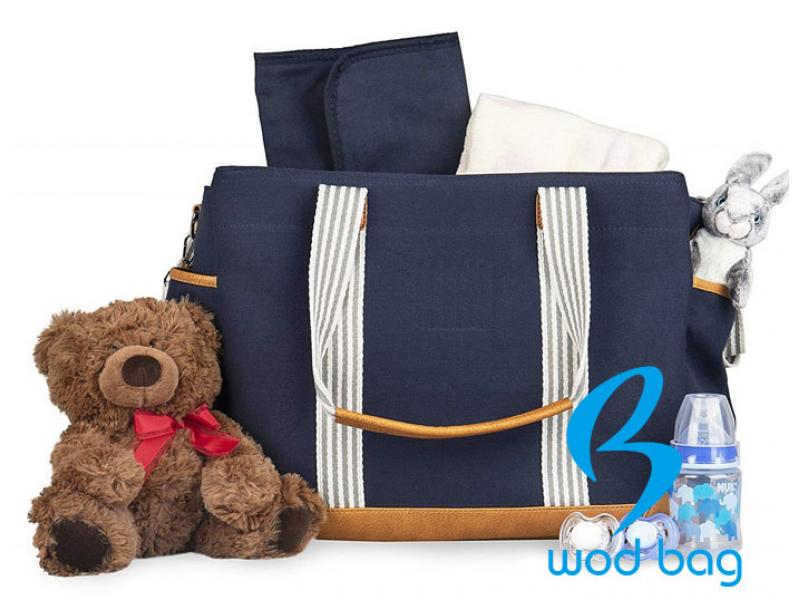 Navy Blue Canvas Diaper Bag From China