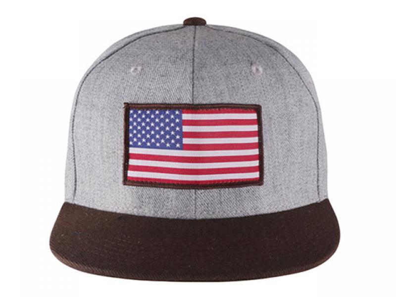 Flat Bill Star Strip United State Flag Cap Custom American Flag Snapback Hats