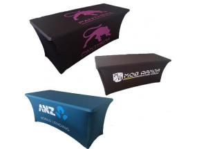 Premium Quality Custom Size And Logo Trade Show Table Cloth Table Throw Table Cover