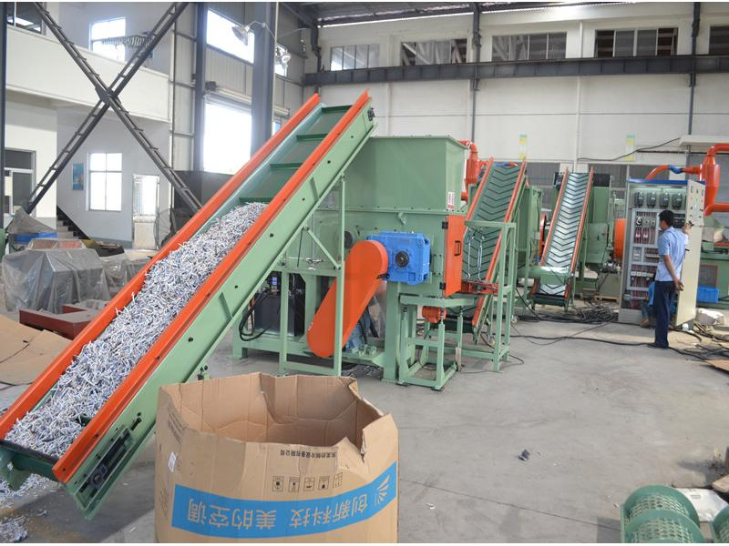 Copper cable wire granulator recycling line