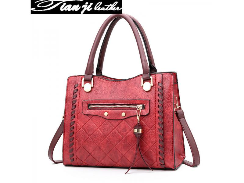 Hot Selling Wholesale Leather PU Fashion Women Lady Handbag with Certificate(J925)