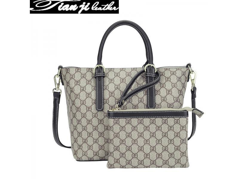 OEM&Wholesale PU Leather Tote Bag Fashion Lady Handbag