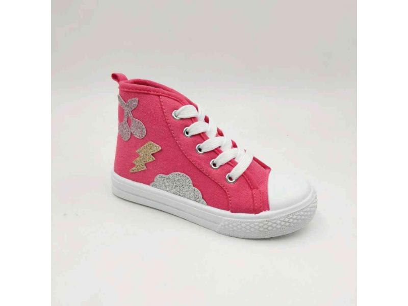 Kids Injection Canvas Casual High Cut Shoes Low Price