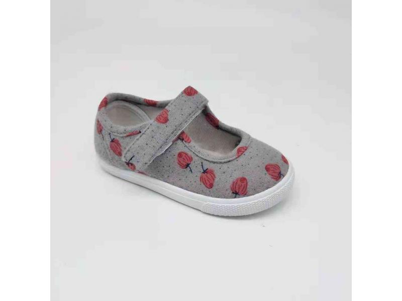 Cherry Print For Kids Injection Canvas Casual Shoes Low Price Baby Shoes