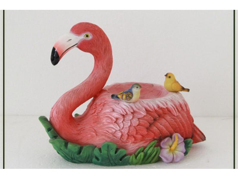 garden decoration life size flamingo shaped bird feeder