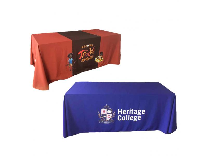 Print Logo Custom Size  Premium Table Throw Table Cover
