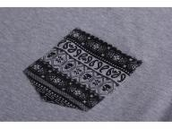 Custom triditional style printing melange gray t shirt for men