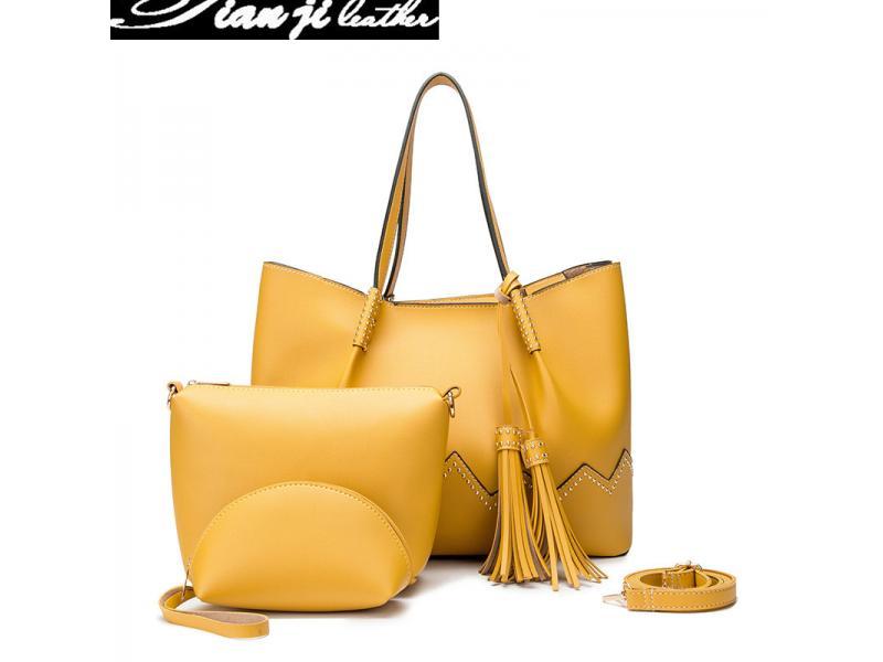 Wholesale Top Handle PU Leather Fashion Bag Shoulder Bags Lady Handbags (J956)