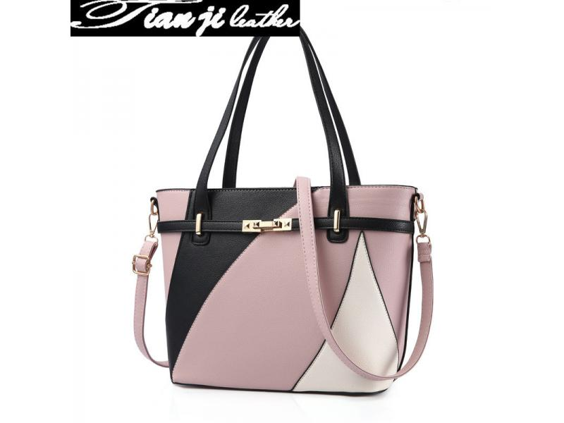 Wholesale Elegant High Quality Retro Fashion Handbags PU Leather Lady Handbag (J963)