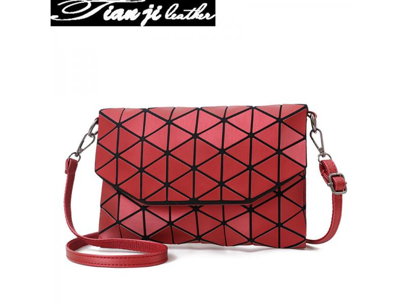 Red Color Elegant Fashion Bag PU Leather Lady Handbag (J964)