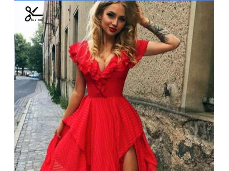 2019 fashion dress for lady dresses from oem clothes factory