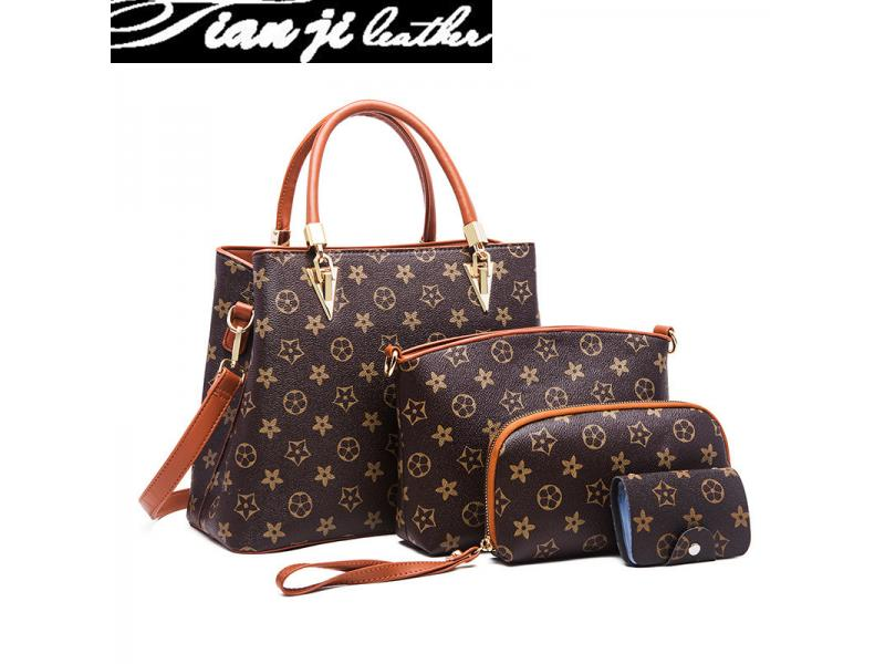 New Arrival Classic 4 PCS Set Top Handle Fashion Bags Lady Handbag (J536)