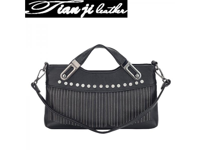New Black Rivets Tassel Bags Fashion Lady Handbag Ladies Handbags(J444)