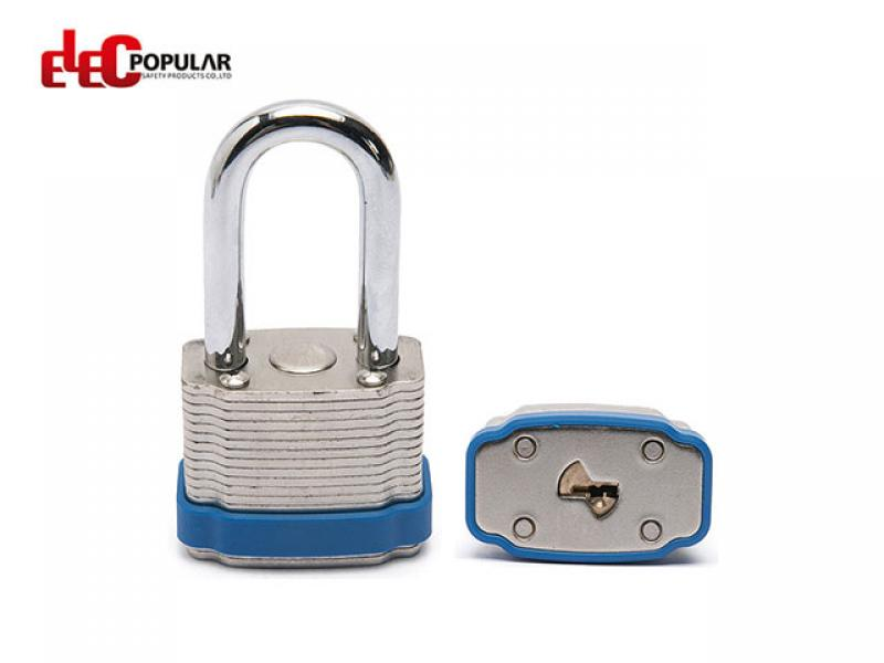 38mm Laminated Steel Shackle Safety Padlocks EP-8562   Metal Body Padlock