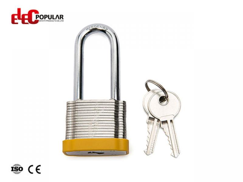51mm Laminated Steel Shackle Safety Padlocks EP-8563   Metal Body Padlock