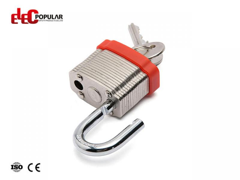 19mm Laminated Steel Shackle Safety Padlocks EP-8561  Metal Body Padlock