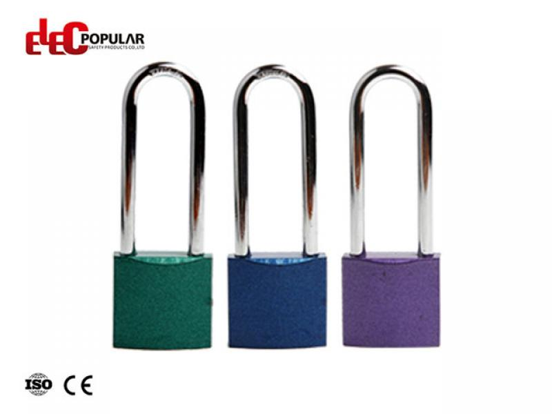 76mm Aluminum Steel Shackle Safety Padlocks EP-8551A   Metal Body Padlock