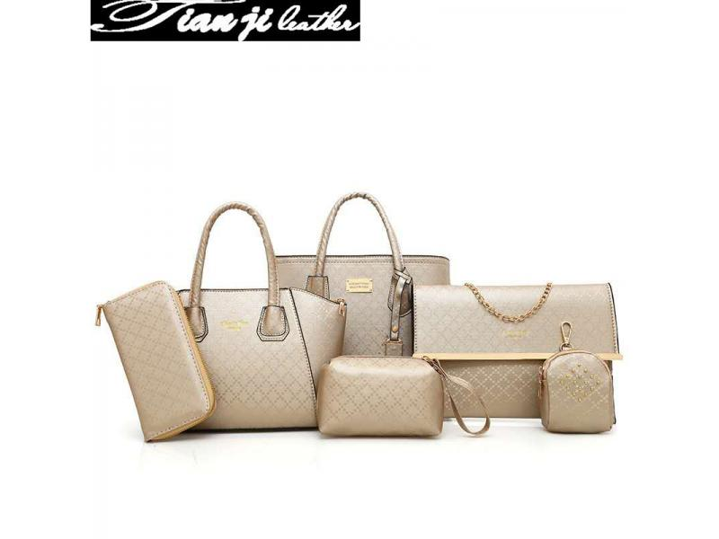 New 6 pcs Set Top Handle Lady Handbags Ladies Handbag Fashion Bags Women Tote Bag(J539)