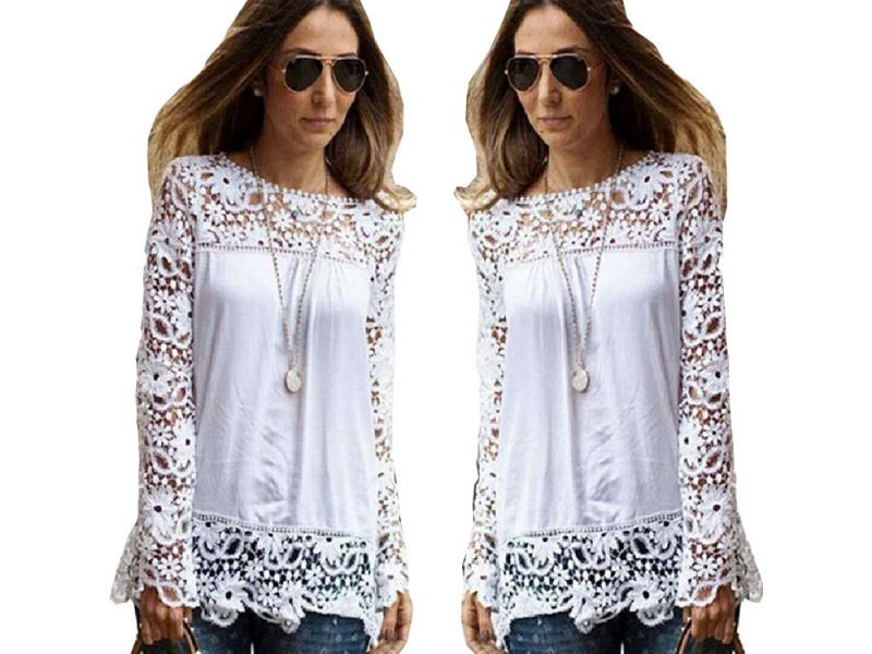 Fashion Women Hollow Long Sleeve Blouse Strappy Cold Shoulder Solid Shirt Tops Blouses Casual ladies