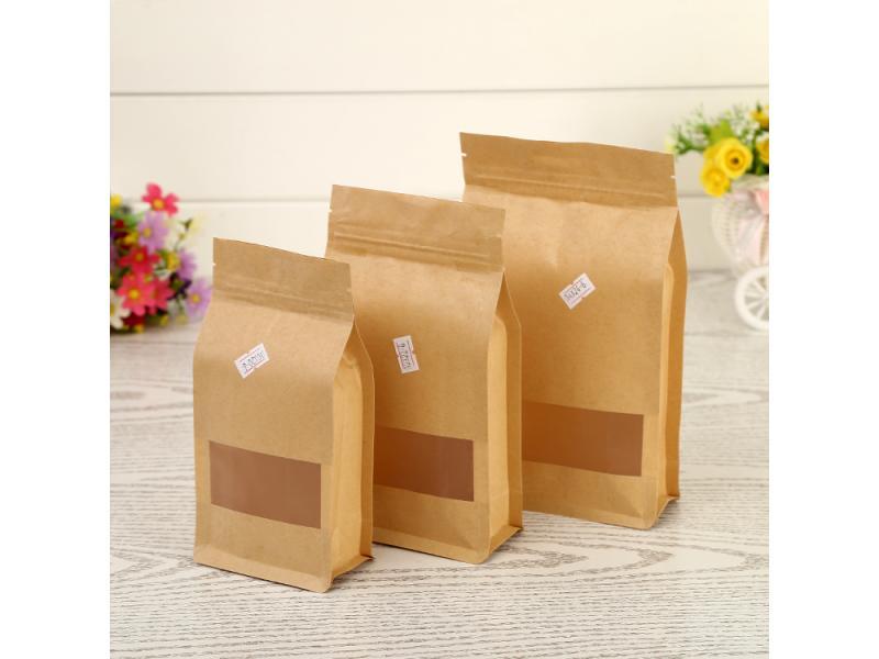 Spot octagonal sealing bag tea food kraft paper octagonal sealing bag nut aluminum