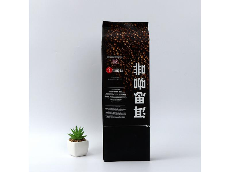 Coffee bag with four sides sealed coffee bean bag