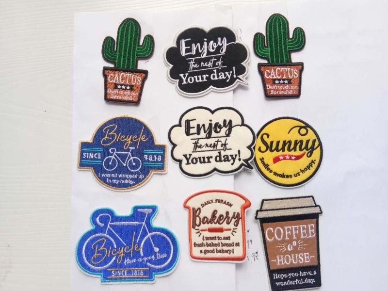 Embroidered stickers z0002