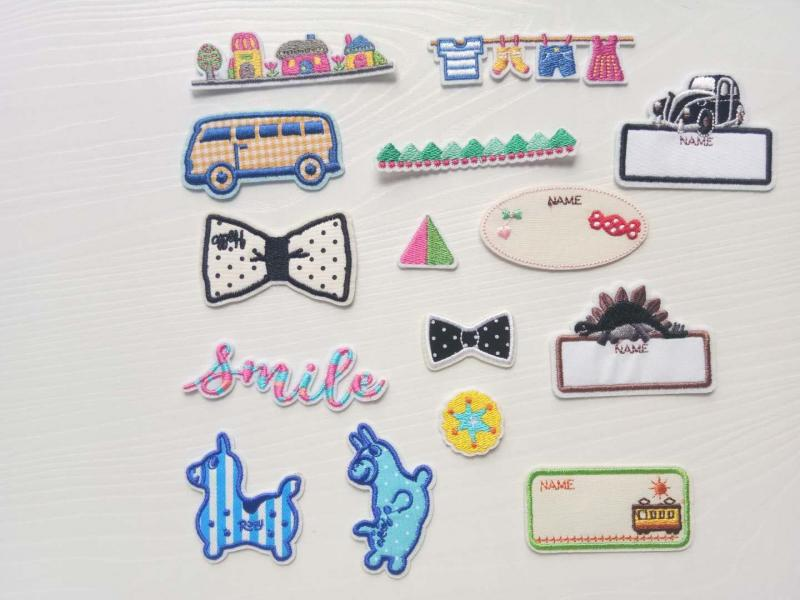 Embroidered stickers z0006