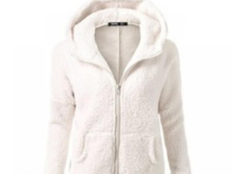 Winter Autumn Warm Jacket Hooded Casual Female Sweatershirt Solid