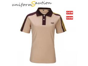 Custom cotton jersey golf club polo shirt