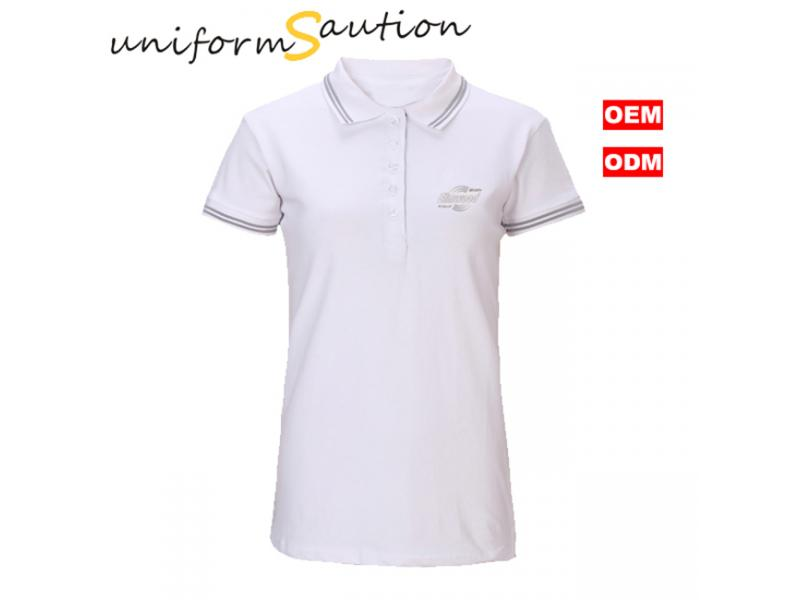 Custom cotton slim fit women polo shirt