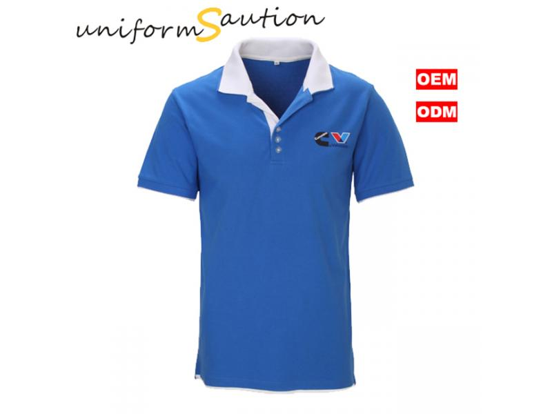 Branded promotional polo shirt with custom logo