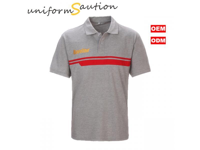 Custom polo shirt cotton CALTEX company work shirt