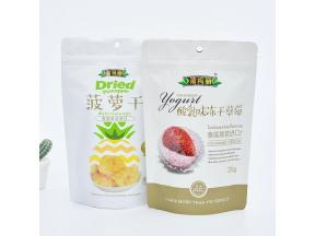 Self-supporting self-sealing dried fruit bag